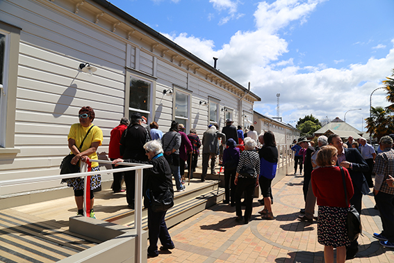 Te Kuiti residents are shown through the restored railway buildings