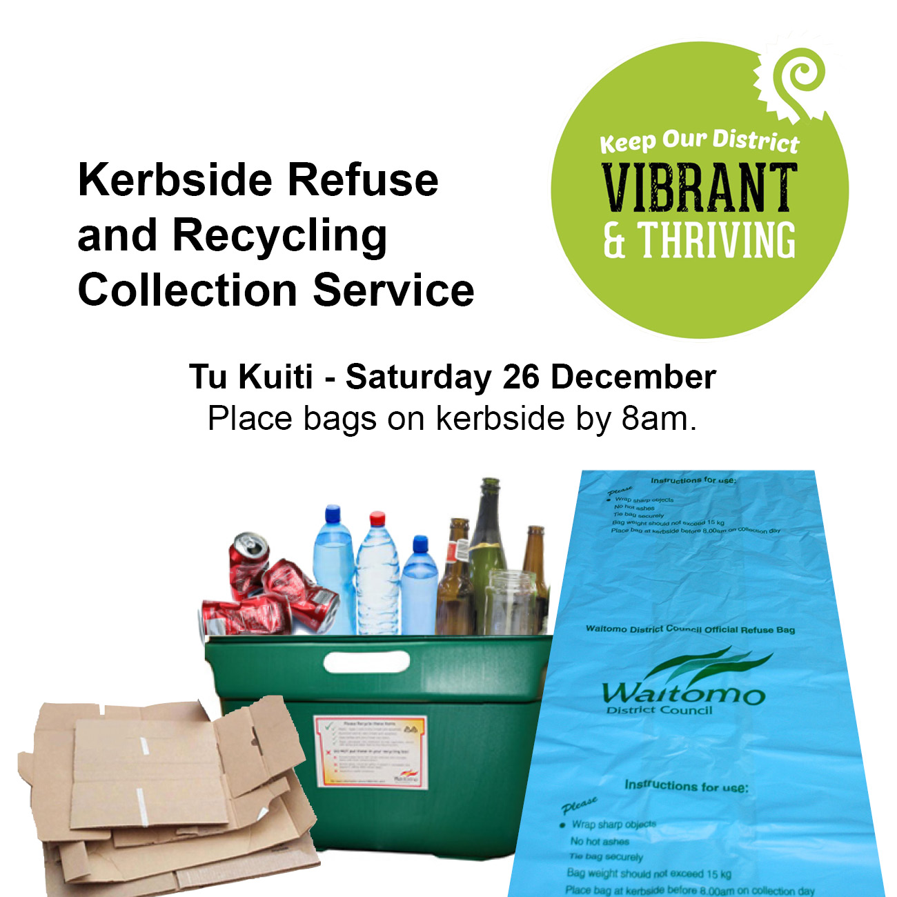 Kerbside collection service Te Kuiti