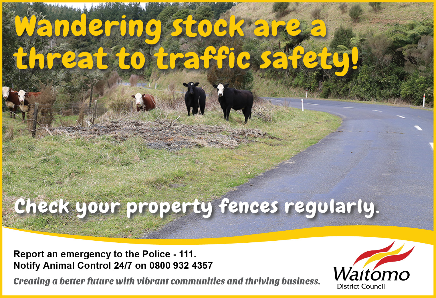 Waitomo District Animal Control_Keeping our roads safe