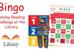 Bingo Holiday Reading Challenge at the Library