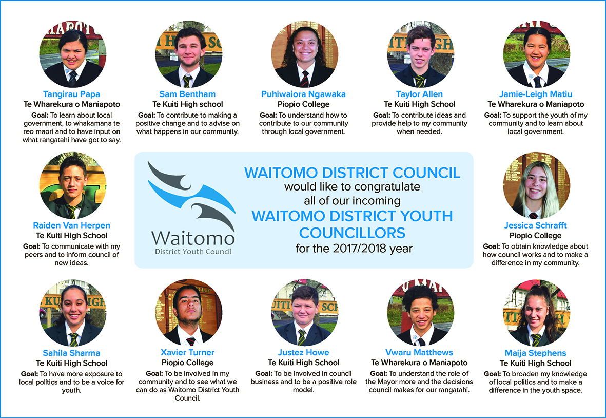 Waitomo District Youth Council 2017 2018_June 2017