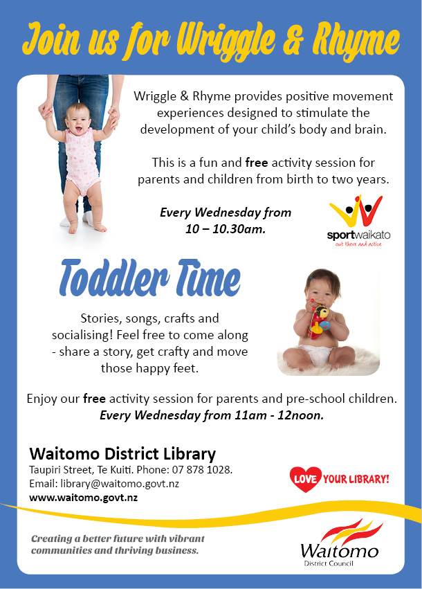 Waitomo District Library Wriggle and rhyme toddler time