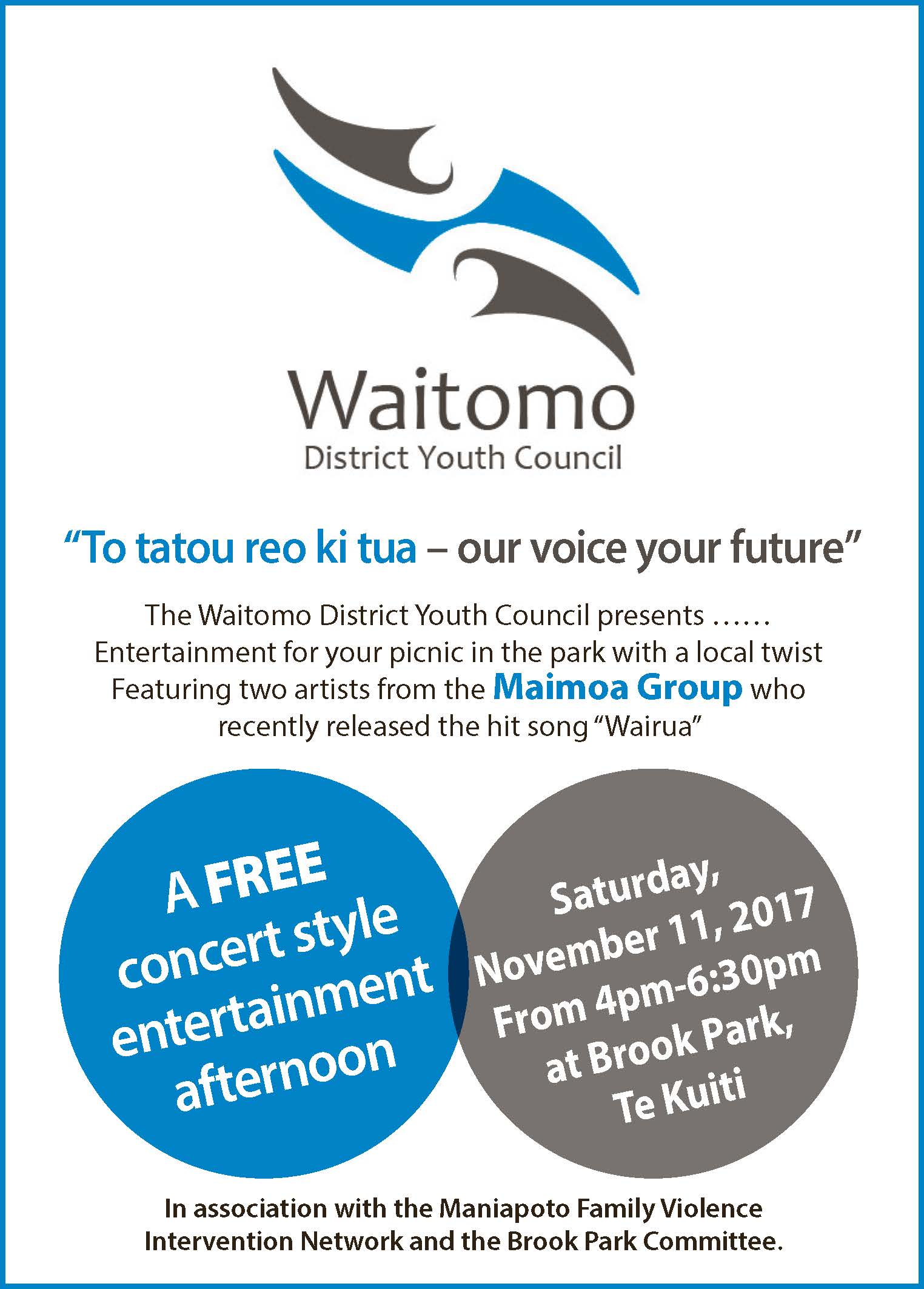 Waitomo District Youth Council 2017 entertainment afternoon