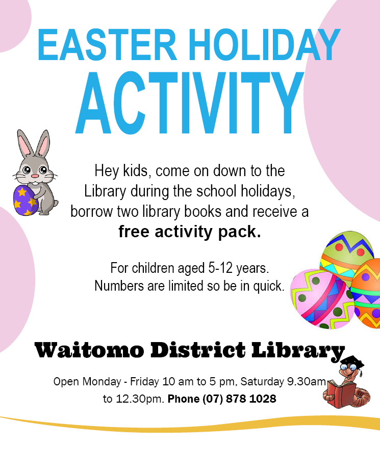 waitomo district library 29 March 2018