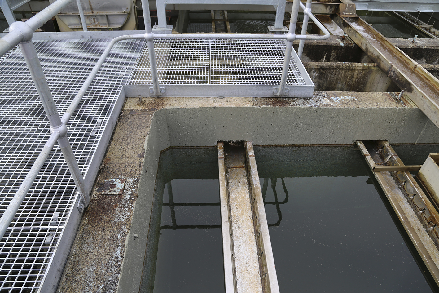 All four of the treatment plant's clarifiers have now been refurbished