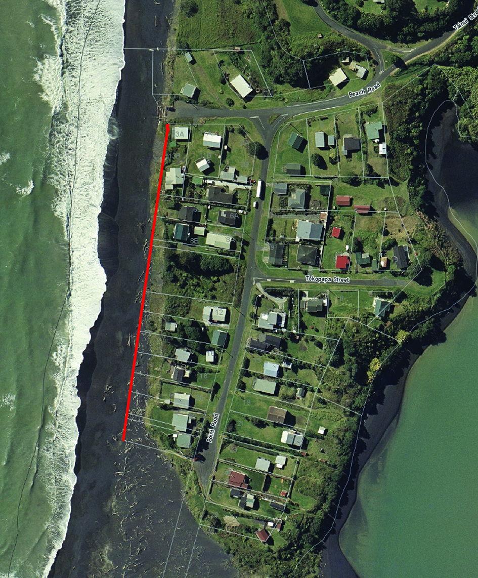 Aerial photo Mokau 2004