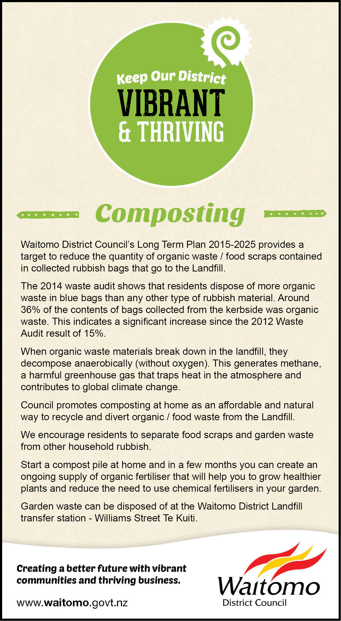 Keep our district vibrant and thriving composting at home