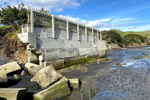 Foreshore erosion repair works underway