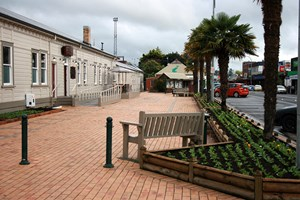 Work underway on Te Kuiti Railway Station Plaza