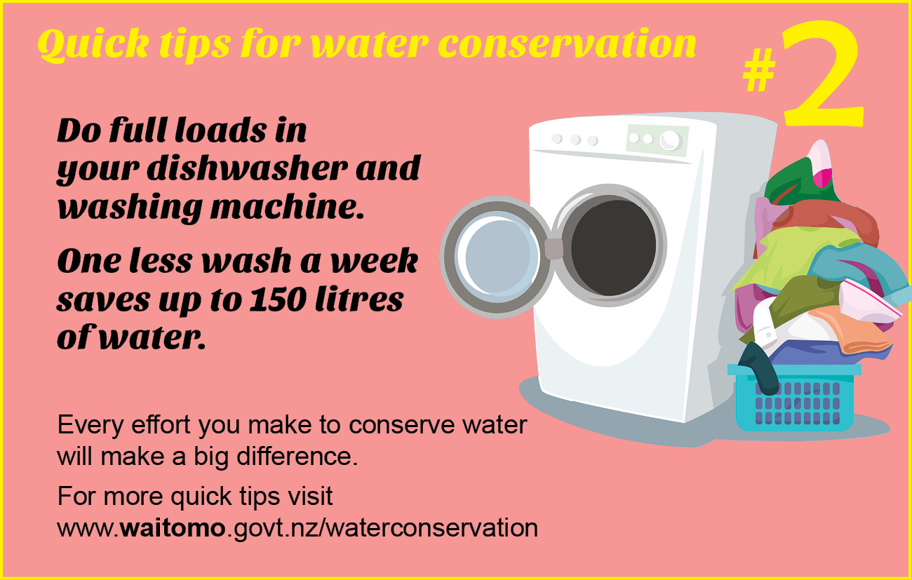 Quick tips for water conservation
