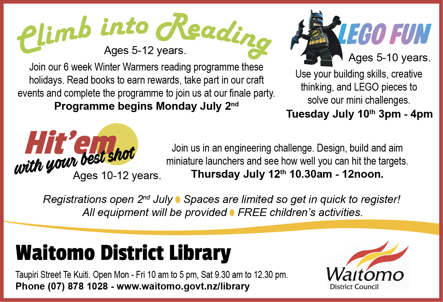 Waitomo District Library_Tuesday 26 June 2018