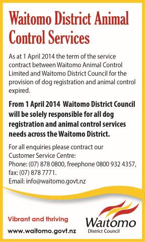 Waitomo District Animal Control Services
