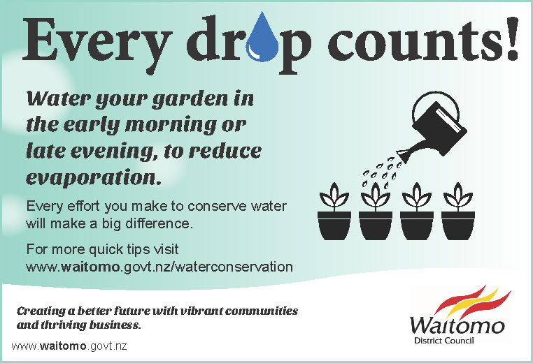 WDC Advert 15 December 2016 Every Drop Counts