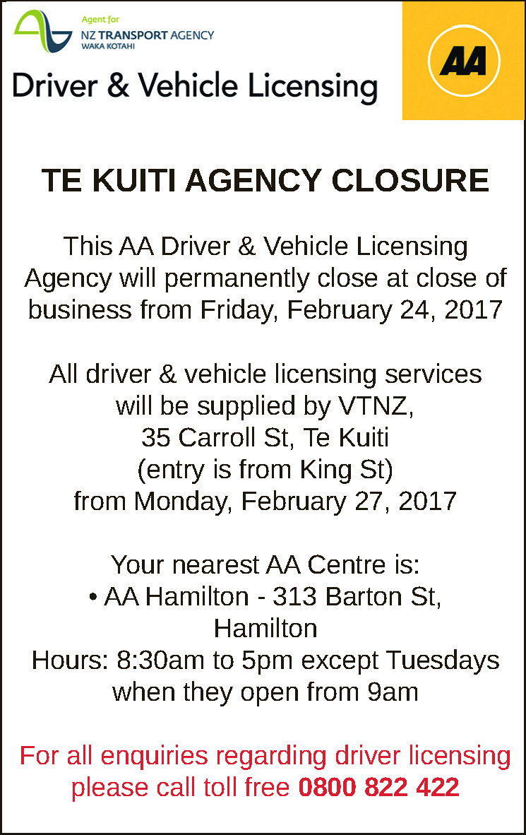 Public Notice AA Driver and Vehicle Licensing