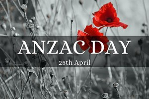 ANZAC Day Thursday 25 April 2019
