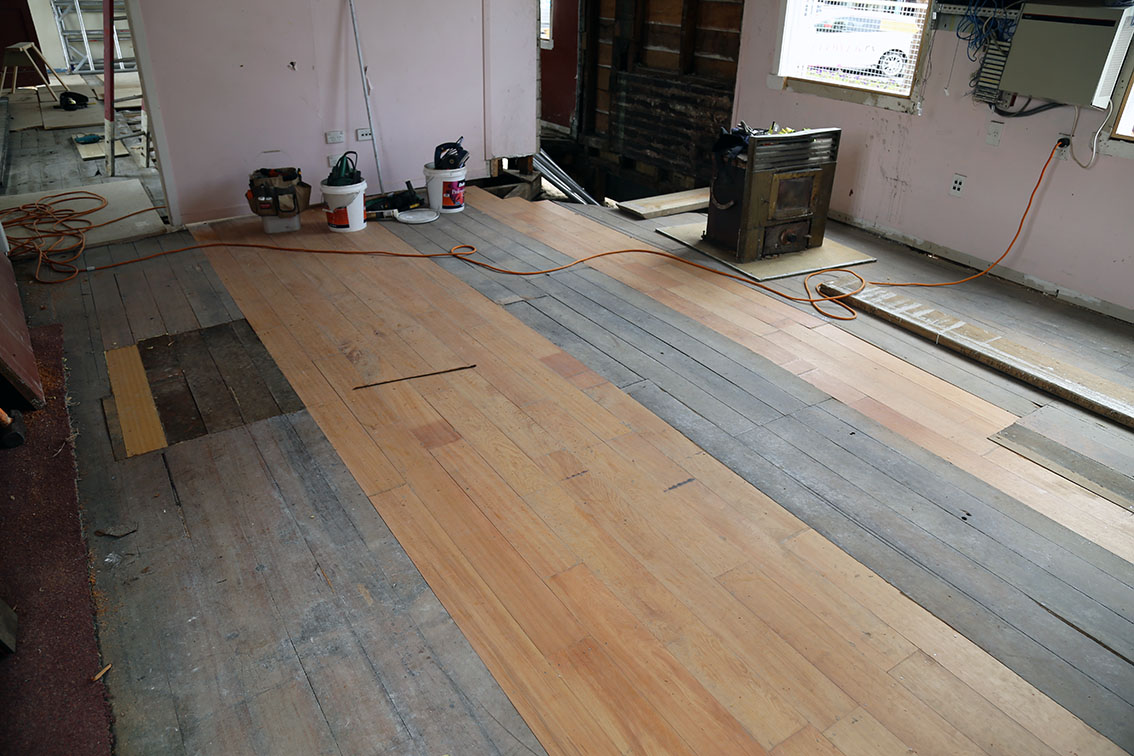 Work outstanding from the original contract includes repairs to the floors (well underway).