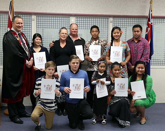 New citizens of Waitomo District 25 May 2016