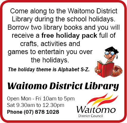 Waitomo District Library April school holiday pack
