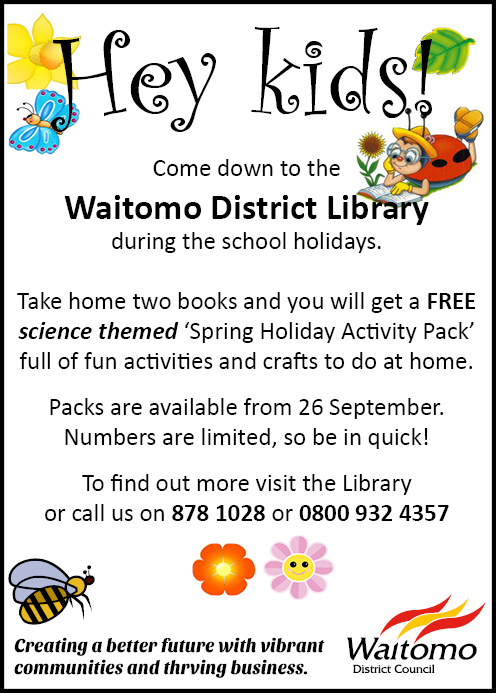 Waitomo District Library Spring Holiday Activity Pack