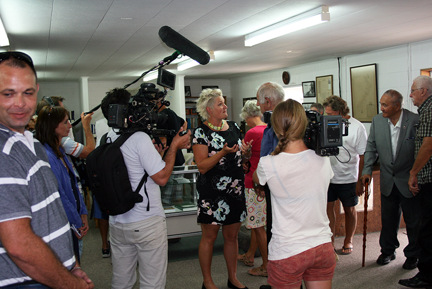 Filming underway at the Tainui Historical Society Museum