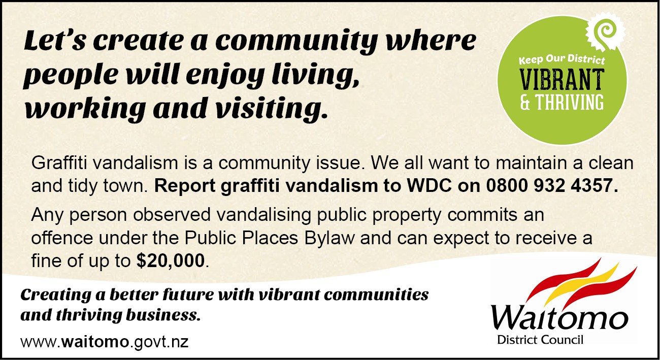 Keep our District Vibrant and Thriving advert anti graffiti 17 December 2015