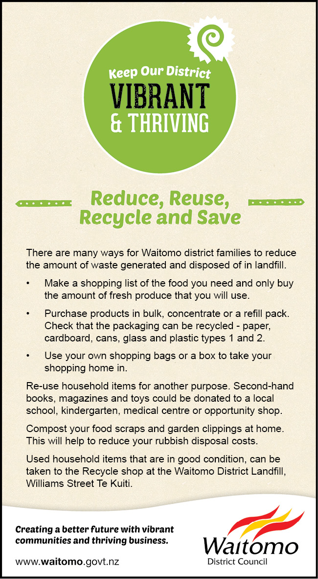 Reduce reuse recycle and save
