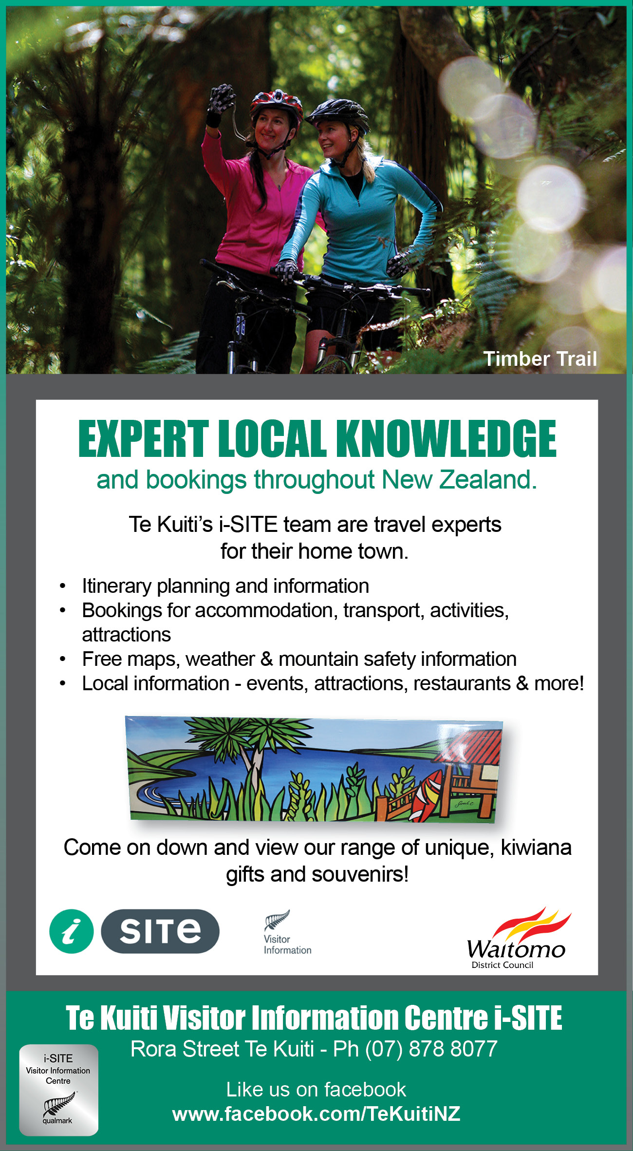Te Kuiti's i-SITE team are travel experts  for their home town.
