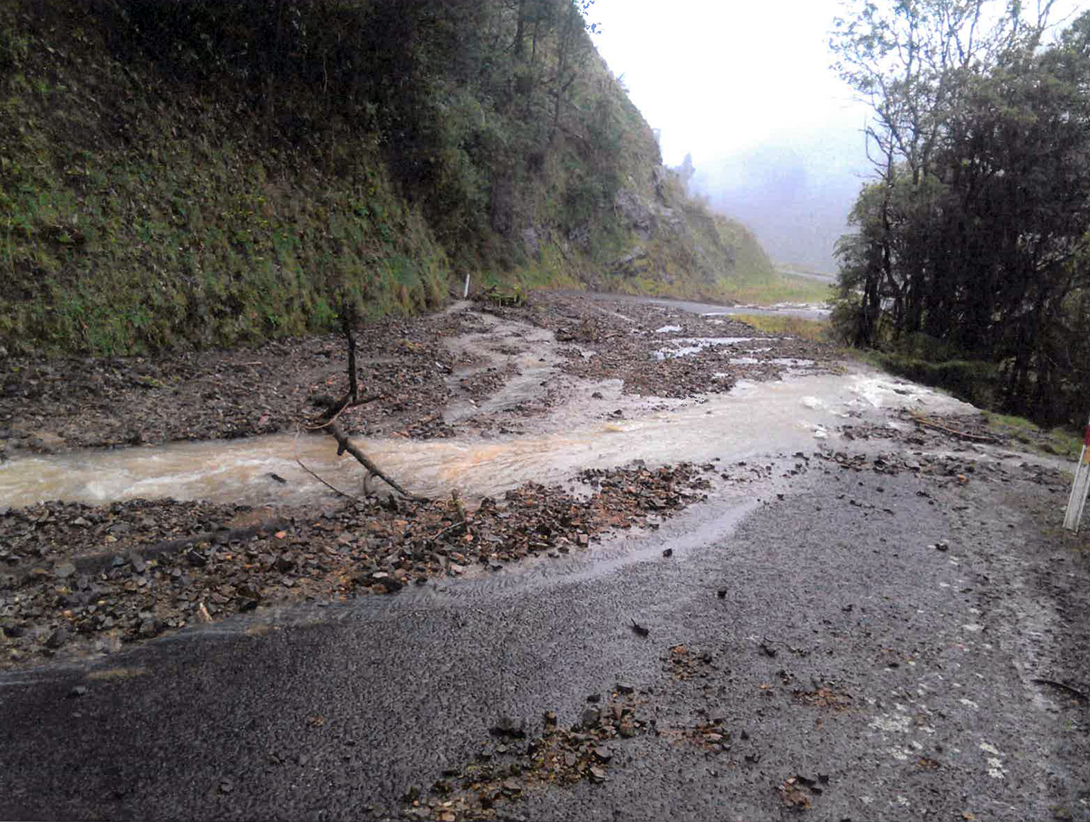 Manganui Road slip event