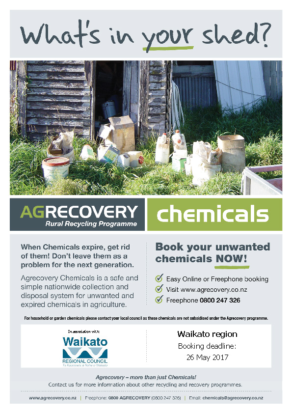 Agrecovery Chemical Collection Flyer May 2017