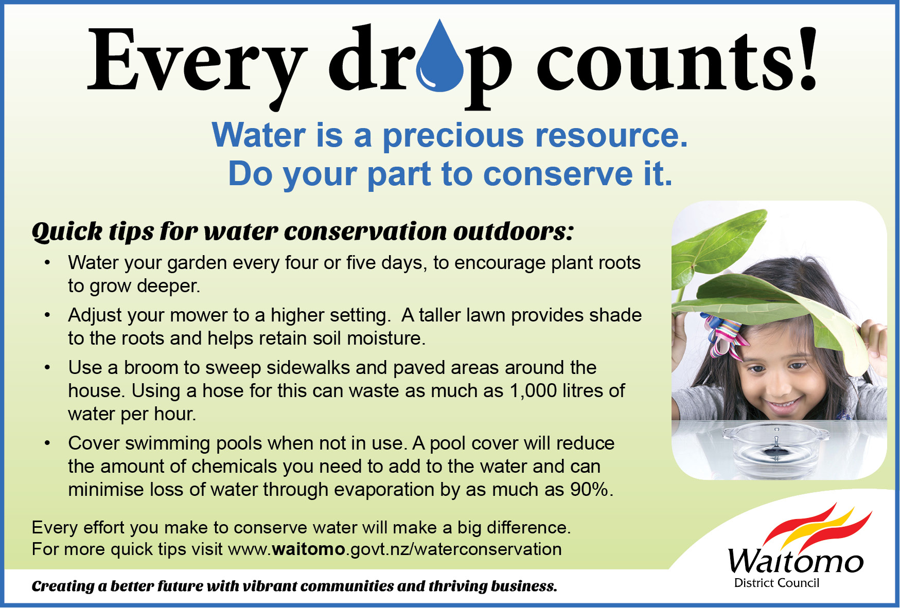 Tips for water conservation outdoors