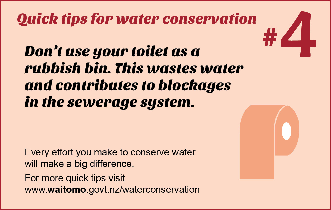 Quick tips for water conservation in the bathroom
