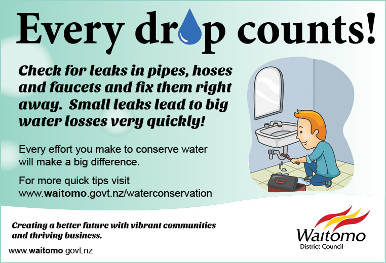WDC Advert Water Conservation tips 22 December 2016