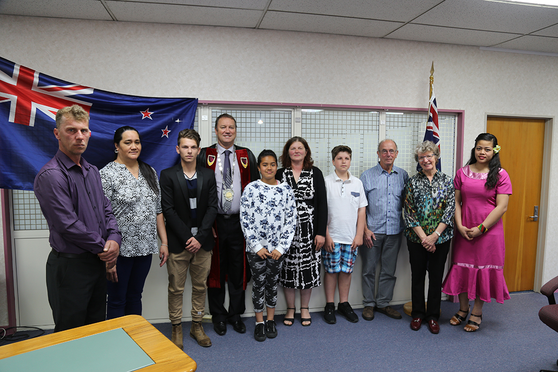 New citizens of Waitomo District 12 November 2015