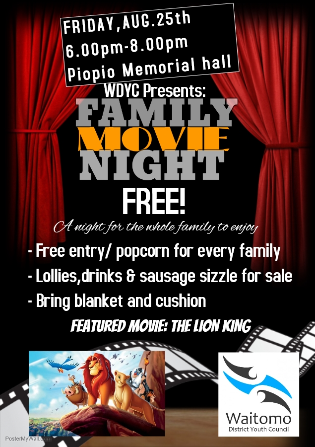 Waitomo District Youth Council – Family Movie Night